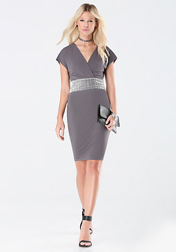 bebe Spike Stud Dress