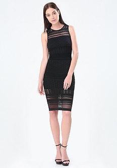 Trixie Mesh Stripe Dress