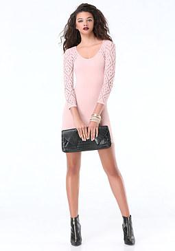 bebe Celestia Lace Dress