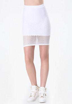 bebe Jamie Mesh Skirt