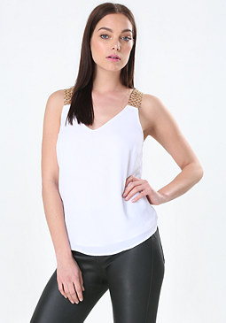 bebe Carrie Chain Strap Tank