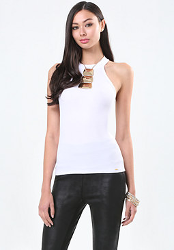 bebe Rochelle Mock Neck Top