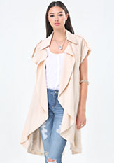 bebe Long Safari Trench Coat