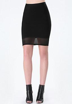 bebe Mesh Hem Bandage Skirt