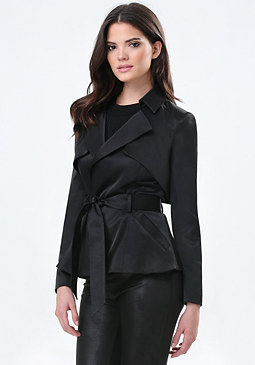 bebe Short Trench Coat