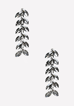 bebe Crystal Leaf Earrings