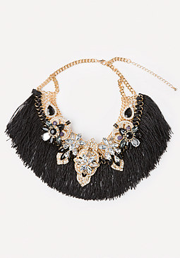 bebe Tassel Fringe Necklace