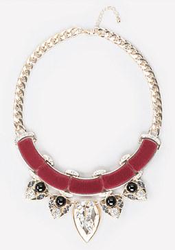 bebe Velvet & Crystal Necklace