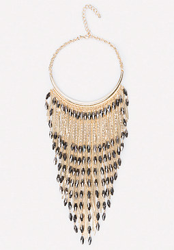 bebe Bead & Snake Chain Necklace