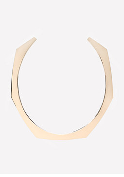 bebe Geometric Collar Necklace