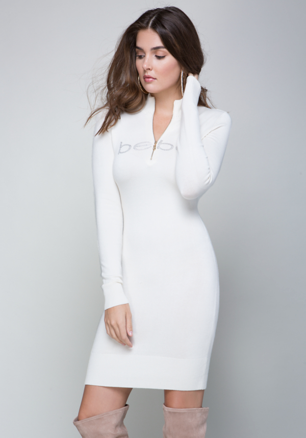 Mock Neck Sweater Dress at bebe in Sherman Oaks, CA | Tuggl