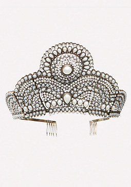 bebe Ornate Pearlescent Crown
