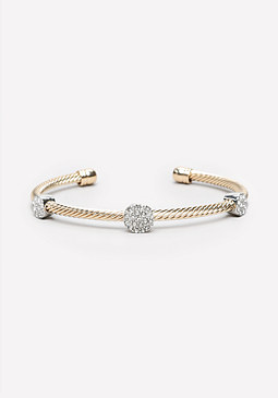 bebe Twisted Pave Station Cuff