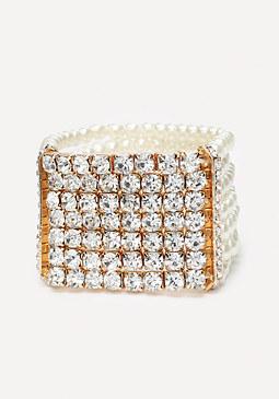 bebe Crystal & Bead Bracelet