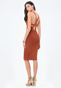 bebe Strappy Sweater Dress