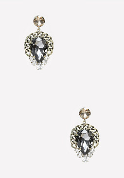 bebe Teardrop & Chain Earrings