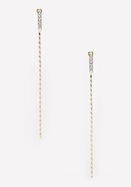 bebe Pave Chain Duster Earrings