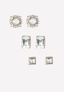 bebe Mix Crystal Earring Set