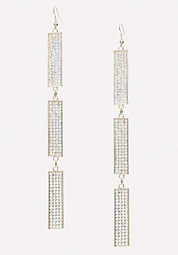 bebe Triple Bar Duster Earrings