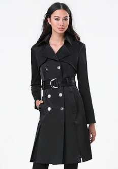 Front Slit Trench Coat