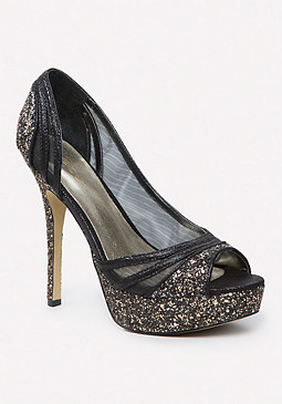 bebe Illuma Glitter Pumps