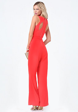 bebe Kelly Back Cutout Jumpsuit