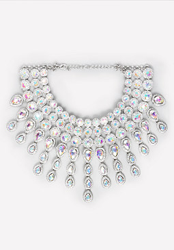 bebe Crystal Choker Necklace