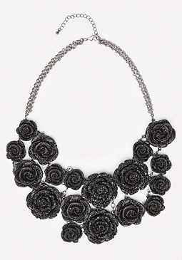 bebe Pave Rosette Necklace