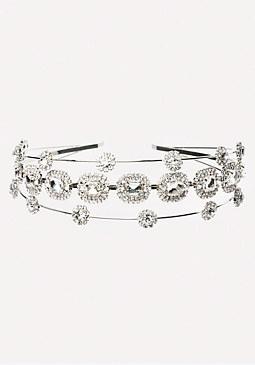 bebe Crystal Cluster Headband