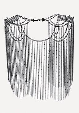 bebe Chain Fringe Body Cape