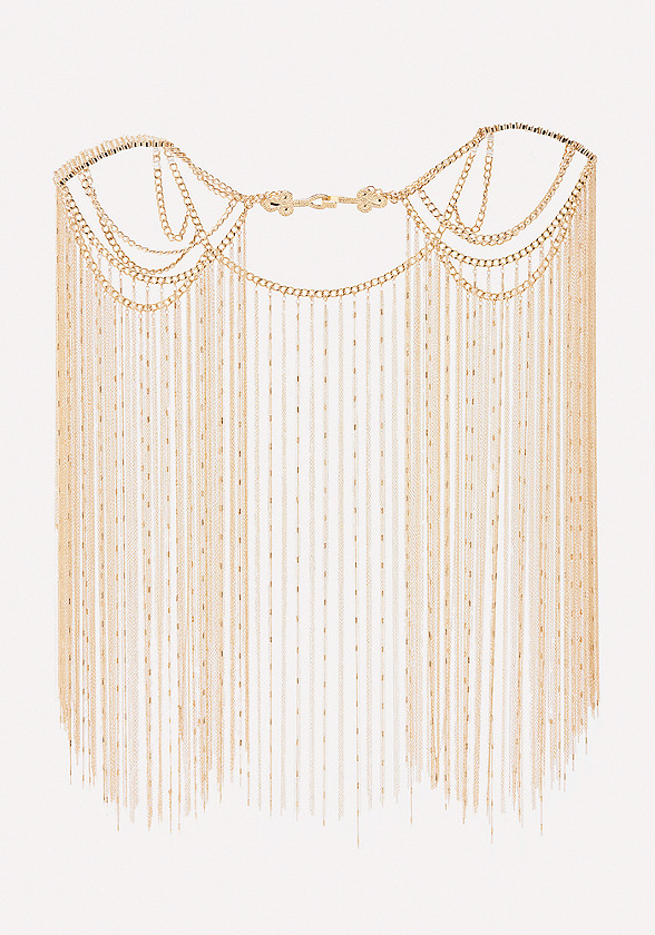 Chain Fringe Body Cape