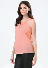 bebe Carrie Embellished Top