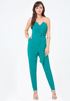 Petite Strapless Jumpsuit
