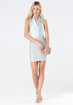 bebe Silk Sleeveless Bodysuit