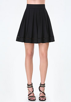 Maria Twill Box Pleat Skirt