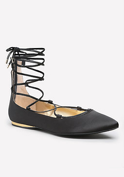 bebe Estel Lace Up Flats