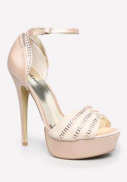 bebe Aidann Ankle Strap Sandals