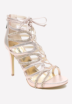 bebe Rychelle Crystal Sandals