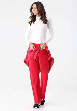 bebe Logo Velour Pants