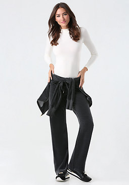 bebe Heathered Velour Pants