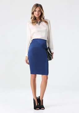 bebe Petite Tiana Pencil Skirt