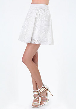 bebe Maggie Lace Miniskirt