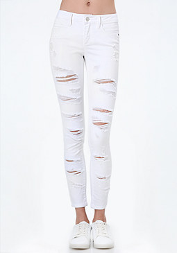 bebe Extreme Destroyed Jeans