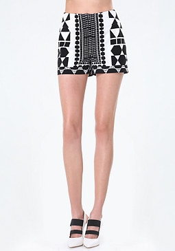 bebe Optic Print Cuffed Shorts