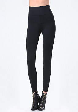 bebe Seamed High Rise Leggings
