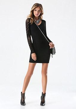 bebe Textured Dress