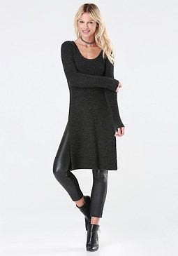 Heathered Sweater Tunic at bebe
