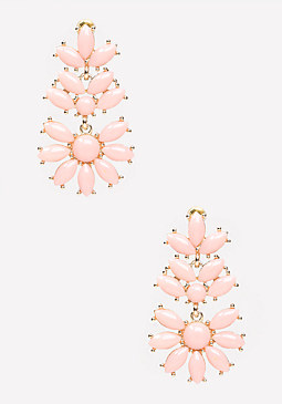 bebe Floral Drop Earrings
