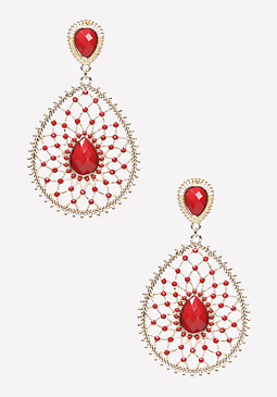 bebe Lacy Drop Earrings
