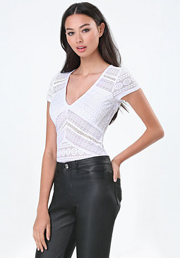 bebe Candice Paneled Bodysuit